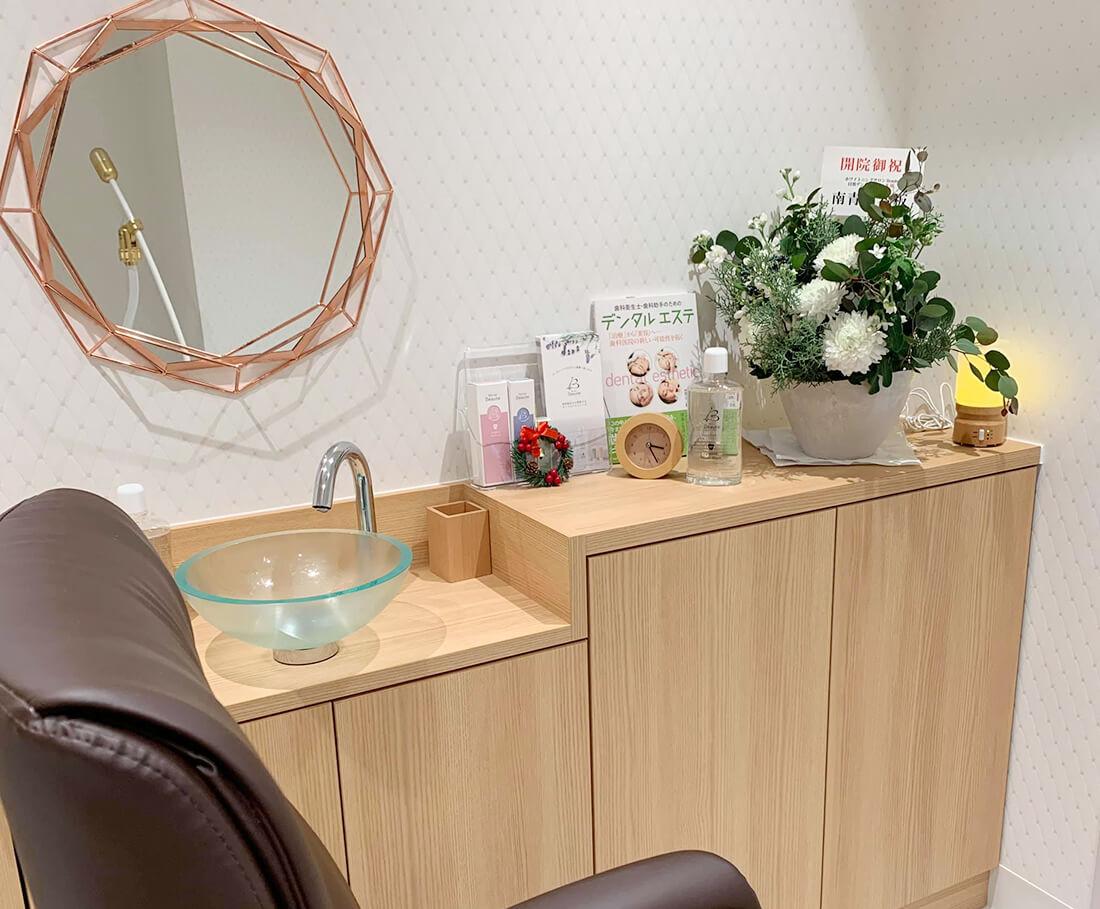 ホワイトニングサロンボーテ目黒デンタルオフィスの個室